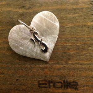 ciondolo cuore della linea hand made Etoile Gioielli